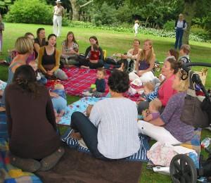 Thula Mama meets at Dartington Gardens this summer.